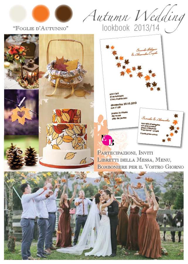 autumn wedding: foglie d'autunno